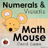 Numerals and Visuals Math Mouse Card Game - Fine Motor - Social Emotional Skills