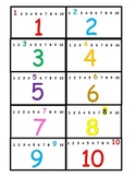 Numeration Cards 1-120, SELF-CHECK - Color + Black + Diffe
