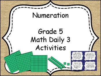 Numeration Grade 5 Math Daily 3 Unit