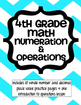 Numeration and Operations - Whole and Decimals