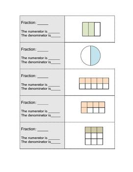 Numerator and Denominator Practice