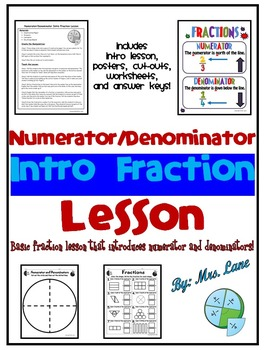 Numerator/Denominator Intro Fraction Lesson