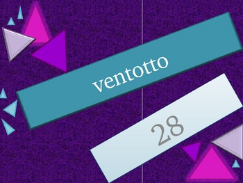 Numeri (Numbers in Italian) 1 to 99 review game