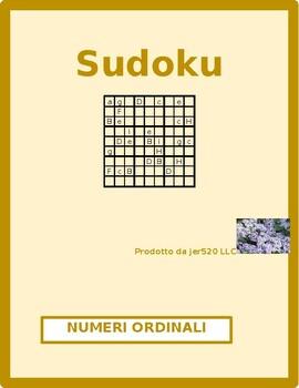 Numeri ordinali (Ordinal numbers in Italian) Sudoku