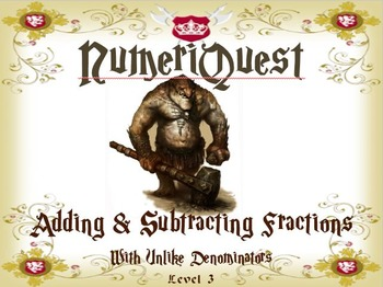 NumeriQuest Adding and Subtracting Fractions - Level 3