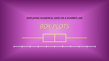 Numeric Data: Box Plots