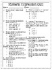 Numeric Expression Assessment Pack
