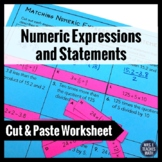 Numeric Expressions and Statements Worksheet Activity 5.OA.2