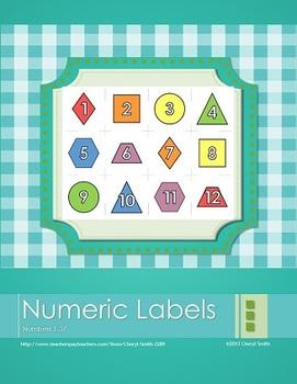 Numeric Labels 1-37