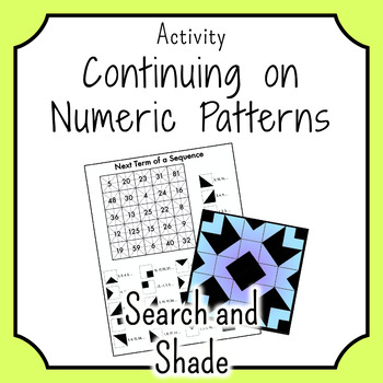 Numeric Patterns SEARCH AND SHADE