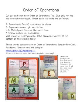 Numeric and Algebraic Activities for Interactive Notebooks