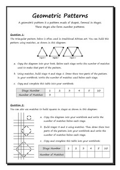 Numeric and Geometric Patterns