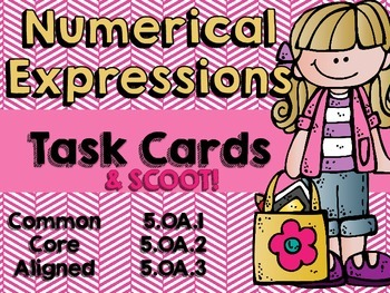 Numerical Expression Task Cards and Scoot!