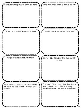 Numerical Expressions Differentiated Interactive Notes