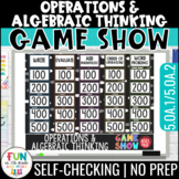 Operations & Algebraic Thinking Game Show | PowerPoint | Test Prep Review Game