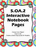 Numerical Expressions Interactive Notebook Pages