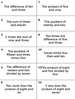 Numerical Expressions Matching (without exponents)