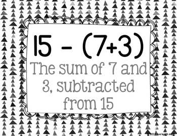 Numerical Expressions Posters