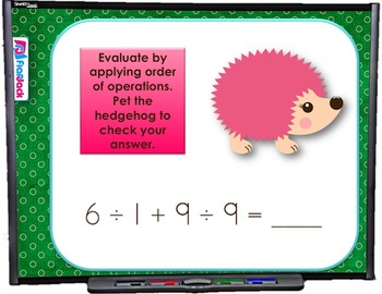 Numerical Expressions SMART BOARD Game (CSS 5.OA.A.1 and 5.OA.A.2)