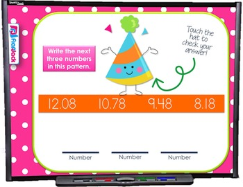 Identifying and Extending Patterns SMART BOARD Game (CSS 5.OA.B.3)