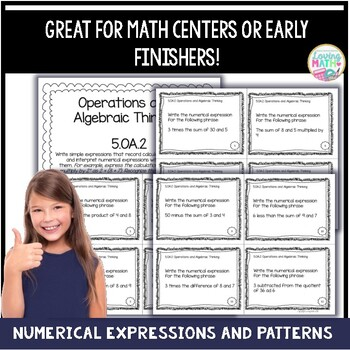 Numerical Expressions and Patterns 5th Grade - CCSS Aligned
