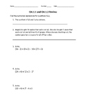 Numerical Expressions worksheet