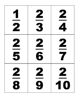 Numerical Fraction Cards - Cut n' Serve, Fun for Activities