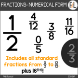 Fractions Clipart - Numerical Notation
