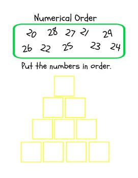 22 Numerical Order Printables