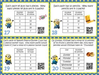 Numerical Pattern QR Code Task Cards: Skip counting by 2's, 5's, & 10's