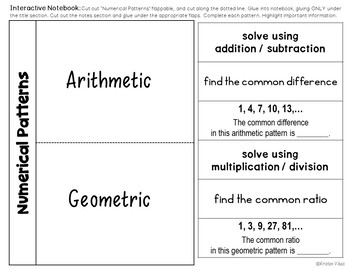 Numerical Patterns - Arithmetic and Geometric Sequence