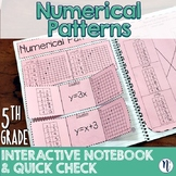 Numerical Patterns Interactive Notebook Activity & Quick Check TEKS 5.4C 5.4D