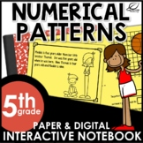 Numerical Patterns Interactive Notebook Set | Distance Learning