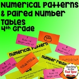 Numerical Patterns & Paired Number Tables Unit with Lesson Plans