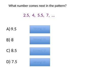 Numerical Patterns Partner Practice