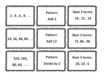 Numerical Patterns Sort