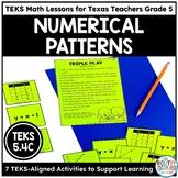 Number Patterns | TEKS Math Activities Math Practice