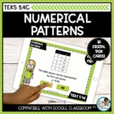 Numerical Patterns and Rules   Boom Cards Distance Learning