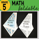 Numerical Patterns and Rules Math Interactive Notebook Foldable