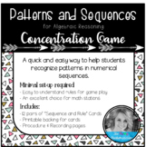 Numerical Patterns and Sequences Concentration/Memory Game
