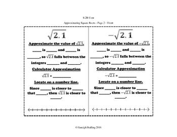 Numerical Representations and Relationships INB Bundle Pack - 8th Grade TEKS