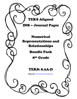 Numerical Representations and Relationships INB Bundle Pac