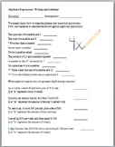 Algebra Foundations Unit (Guided Notes and Assessments)