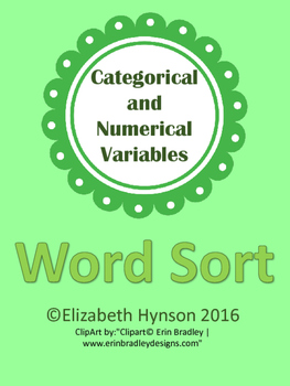 Numerical and Categorical Variables Sort