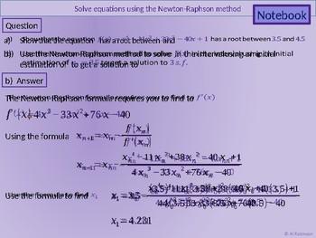 Numerical methods - Newton-Raphson method by Al Robinson | TpT