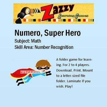 Numero Super Hero Folder Game Number Recognition