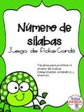 Numero de silabas Juego de Poke Cards