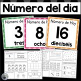 Número del Día 1-20 Number of the Day in SPANISH kindergarten