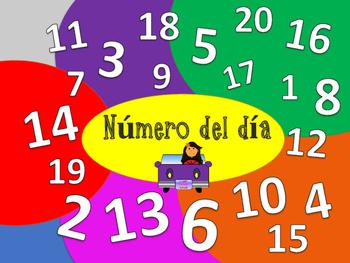 Número del día 1-20