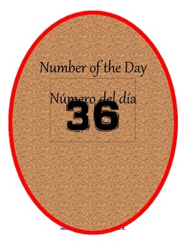 Bilingual Number of the Day Bundle/Número del día